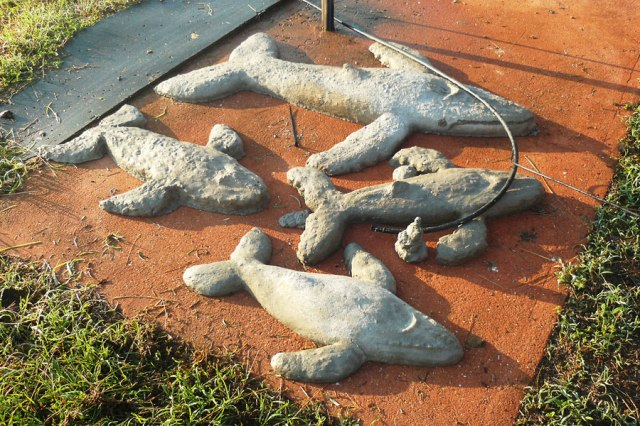 Humpback whale sculptures.  © Copyright Alexis Smith 2012 All Rights Reserved.